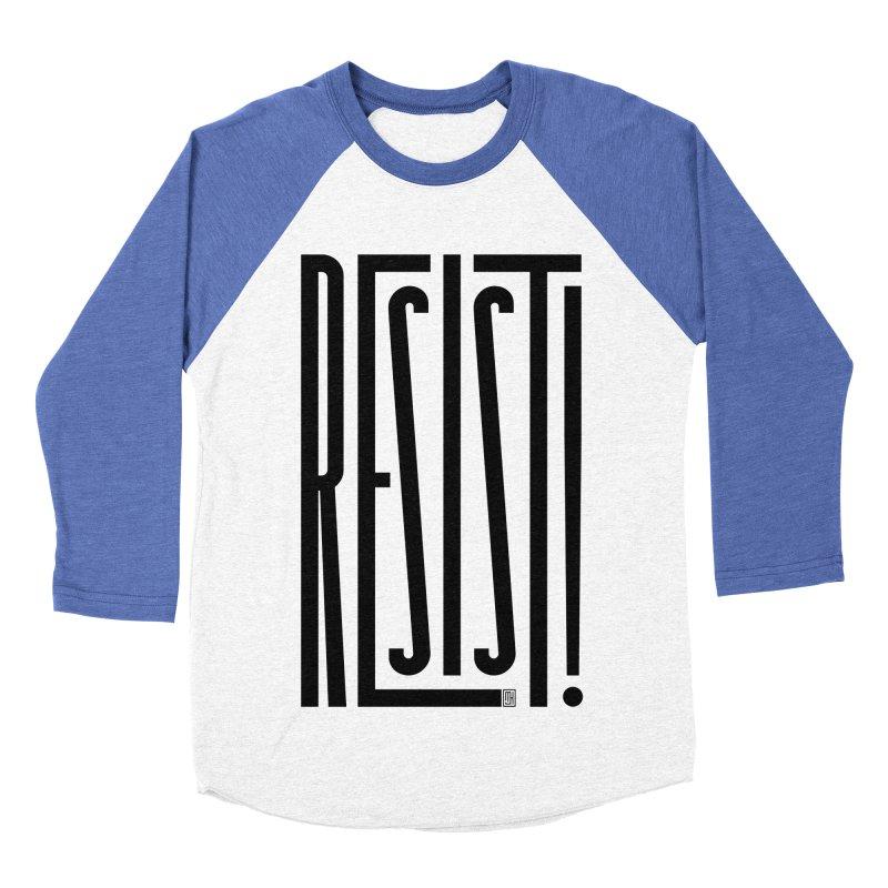 RESIST! Men's Baseball Triblend Longsleeve T-Shirt by Michael J Hildebrand's Artist Shop