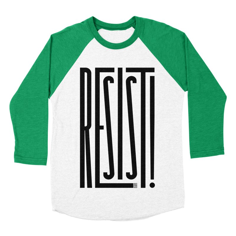 RESIST! Men's Baseball Triblend T-Shirt by michaeljhildebrand's Artist Shop