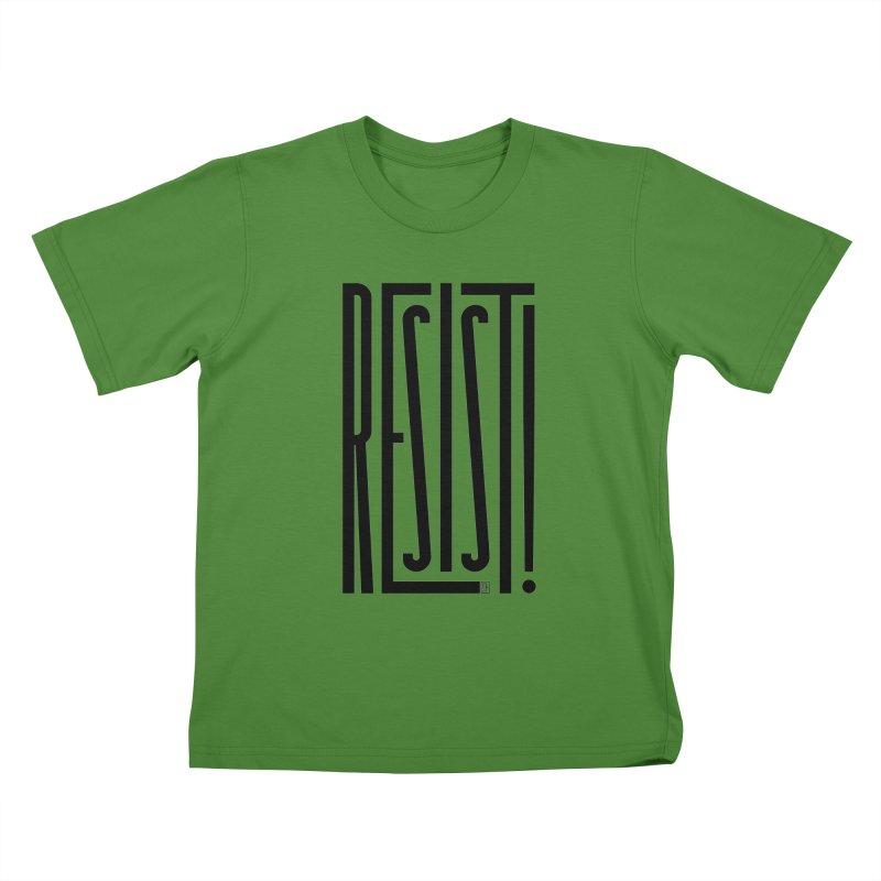 RESIST! Kids T-shirt by michaeljhildebrand's Artist Shop