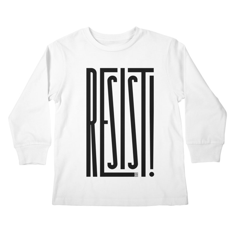RESIST! Kids Longsleeve T-Shirt by michaeljhildebrand's Artist Shop