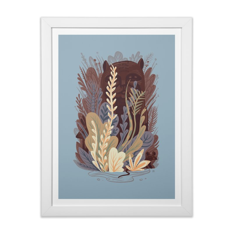 Through the Wilds in Framed Fine Art Print White by michaeljhildebrand's Artist Shop