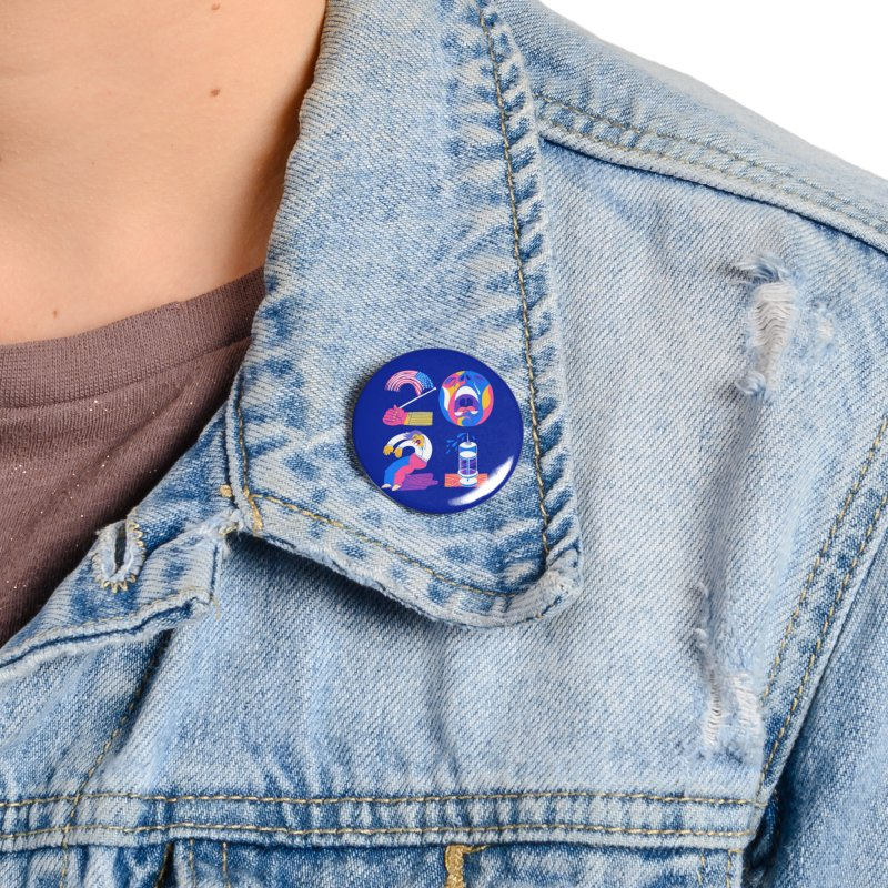 2021 (I'm fearful of more... nationalism, suffering, failing & illness) Accessories Button by Michael J Hildebrand's Artist Shop