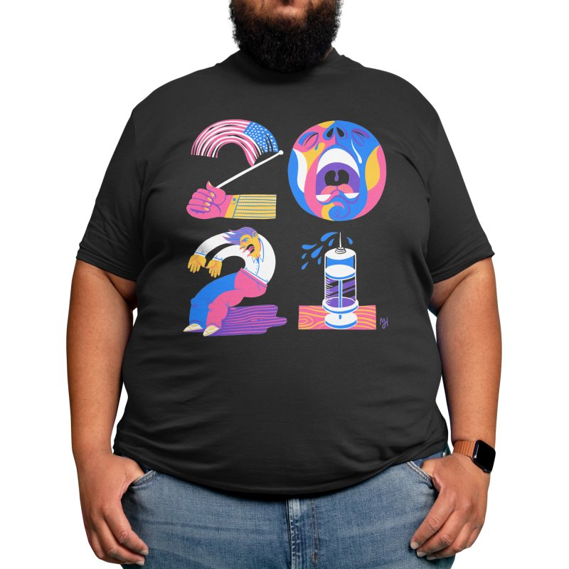 2021 (I'm fearful of more... nationalism, suffering, failing & illness) Men's T-Shirt by Michael J Hildebrand's Artist Shop