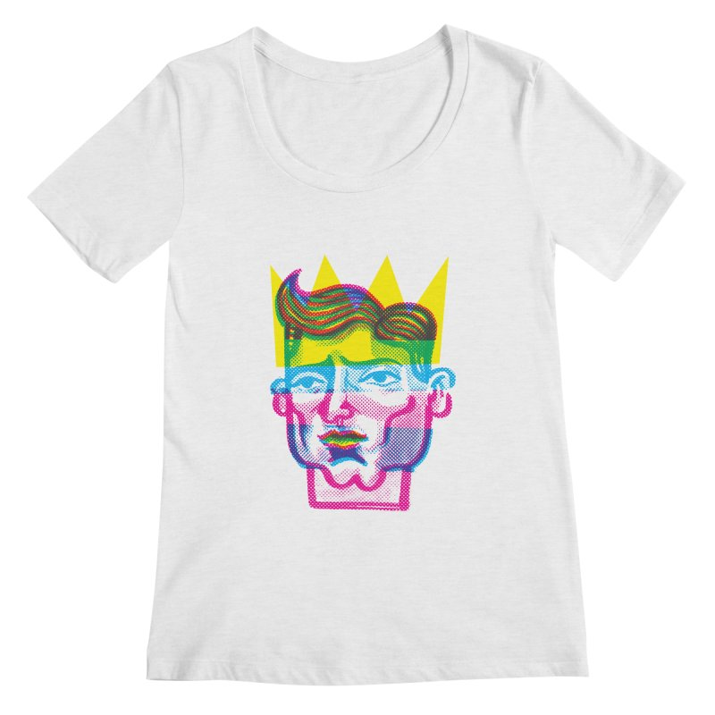 Don't You Know Your Queen  Women's Scoopneck by michaeljhildebrand's Artist Shop