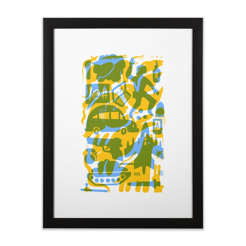 Modern Times (Flourish) Home Framed Fine Art Print by michaeljhildebrand's Artist Shop