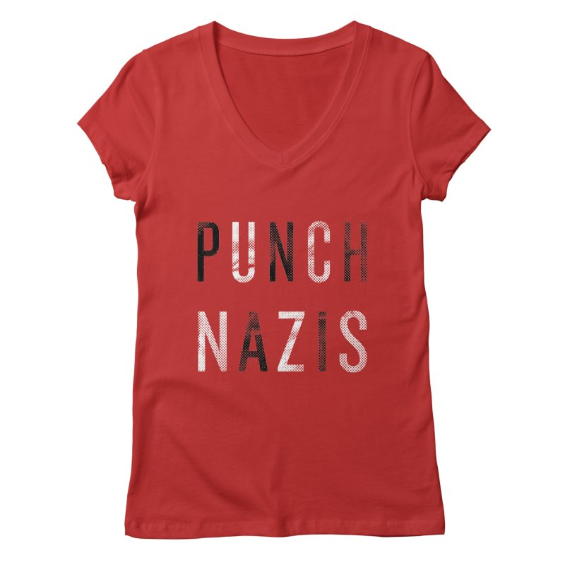 PUNCH... Women's V-Neck by michaeljhildebrand's Artist Shop