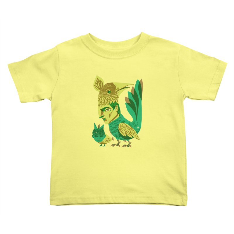 Bird Face Mouth Kids Toddler T-Shirt by michaeljhildebrand's Artist Shop
