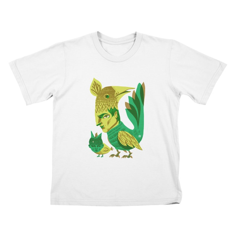 Bird Face Mouth Kids T-shirt by michaeljhildebrand's Artist Shop