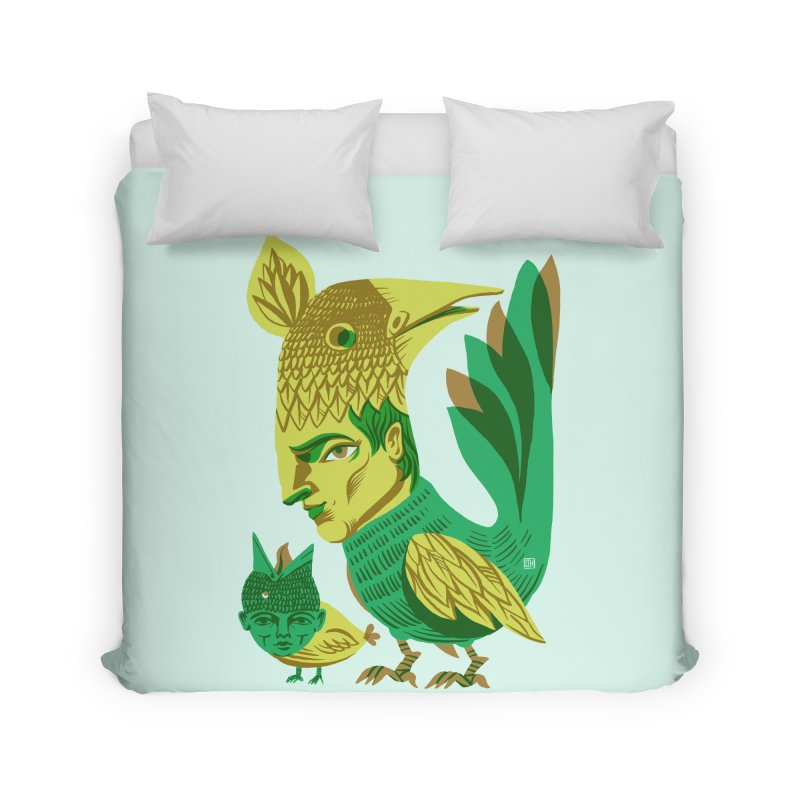 Bird Face Mouth Home Duvet by michaeljhildebrand's Artist Shop