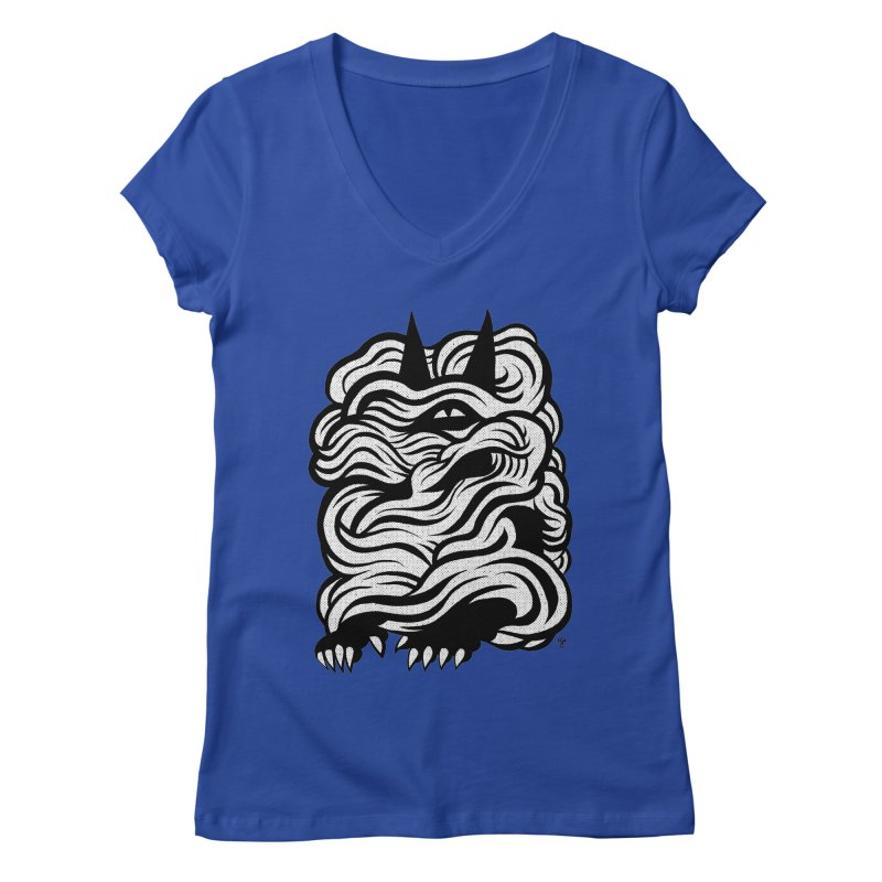 Mysterious Women's V-Neck by michaeljhildebrand's Artist Shop