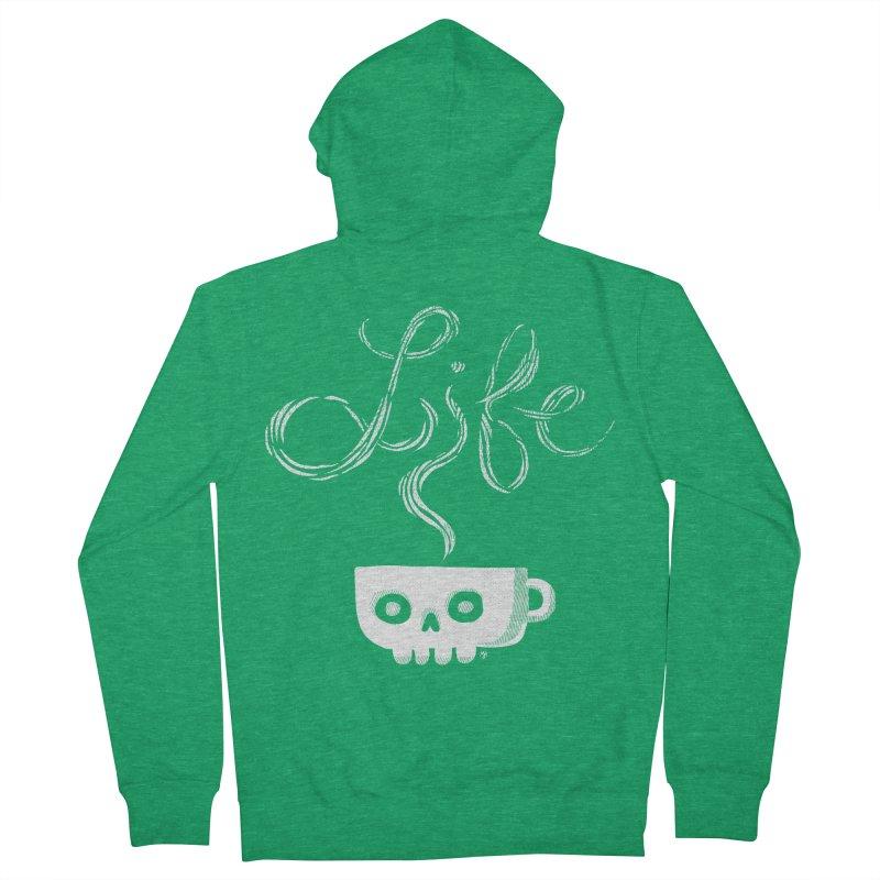 Coffee is Life Men's Zip-Up Hoody by michaeljhildebrand's Artist Shop