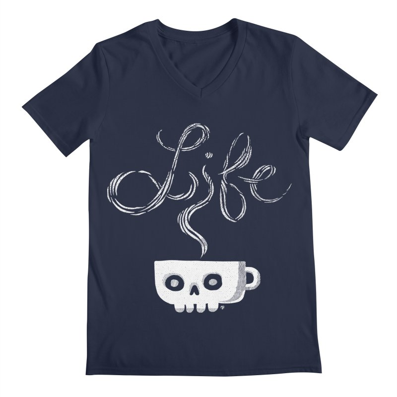 Coffee is Life Men's V-Neck by michaeljhildebrand's Artist Shop