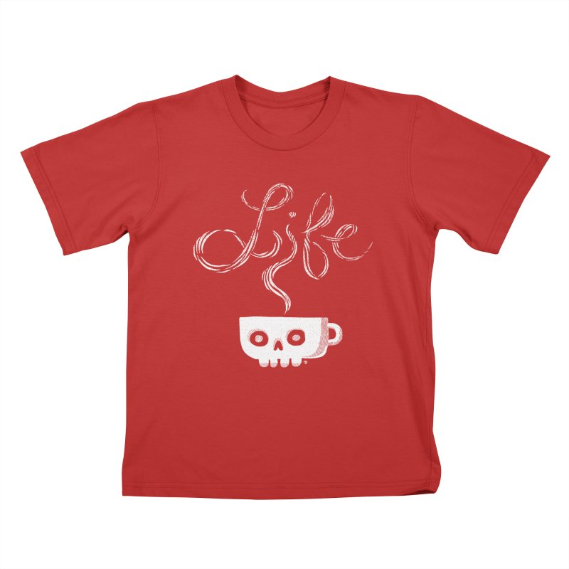 Coffee is Life Kids T-Shirt by michaeljhildebrand's Artist Shop