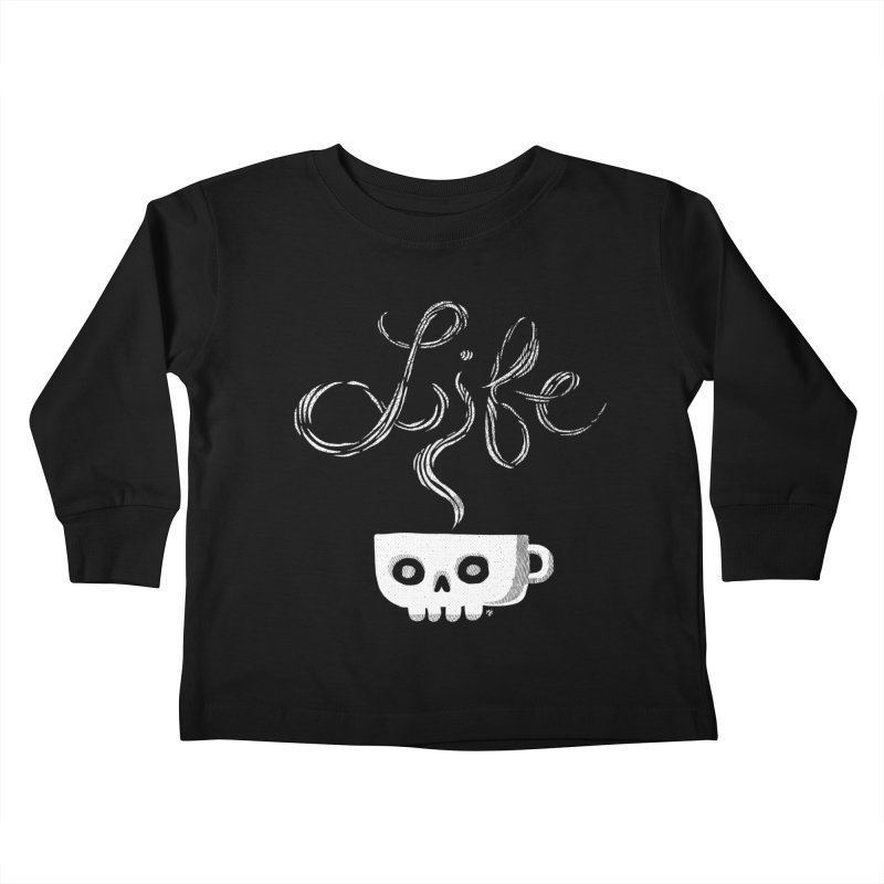 Coffee is Life Kids Toddler Longsleeve T-Shirt by michaeljhildebrand's Artist Shop