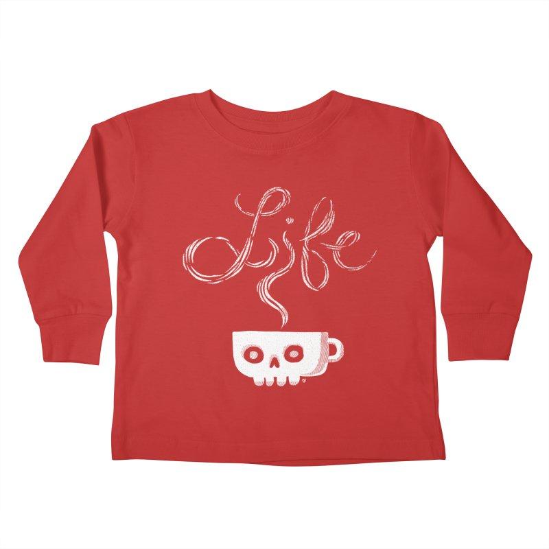 Coffee is Life Kids Toddler Longsleeve T-Shirt by michaeljhildebrand's Artist Shop