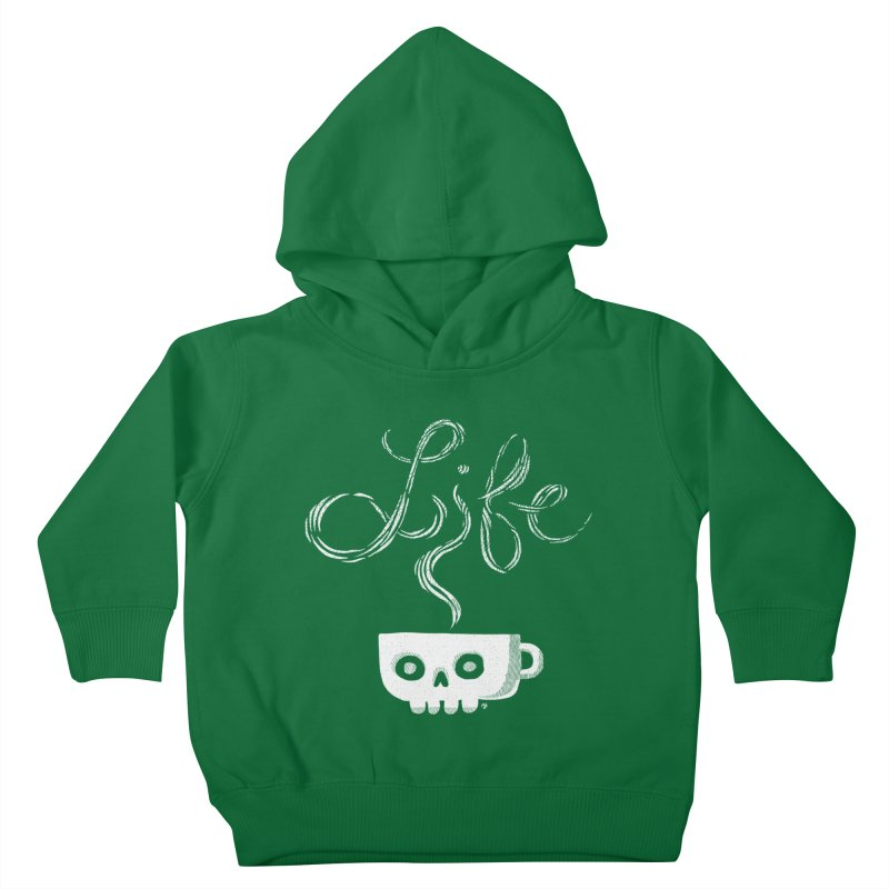Coffee is Life Kids Toddler Pullover Hoody by michaeljhildebrand's Artist Shop