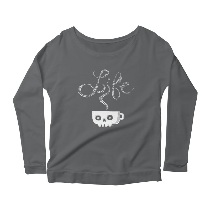 Coffee is Life Women's Longsleeve Scoopneck  by michaeljhildebrand's Artist Shop