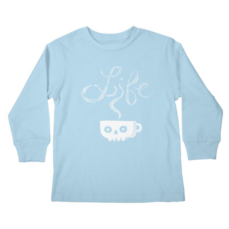 Coffee is Life Kids Longsleeve T-Shirt by michaeljhildebrand's Artist Shop