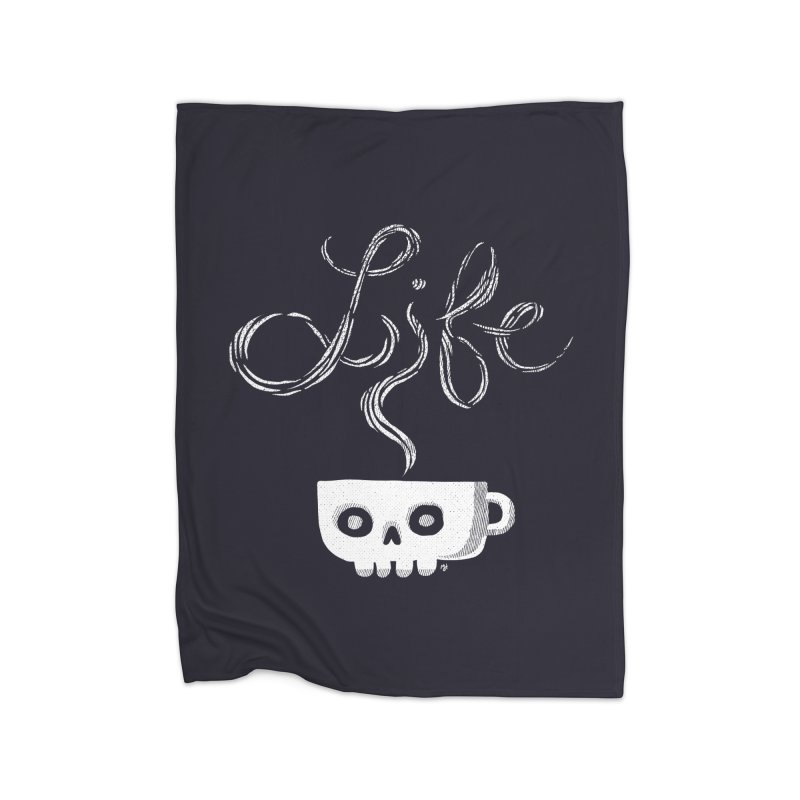 Coffee is Life Home Blanket by michaeljhildebrand's Artist Shop