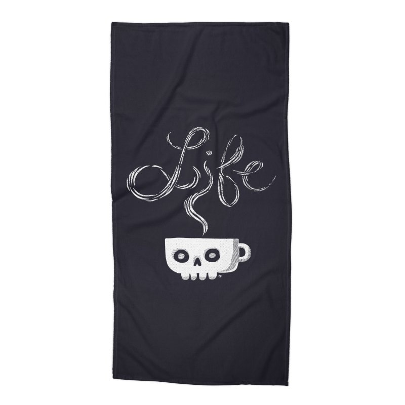 Coffee is Life Accessories Beach Towel by michaeljhildebrand's Artist Shop
