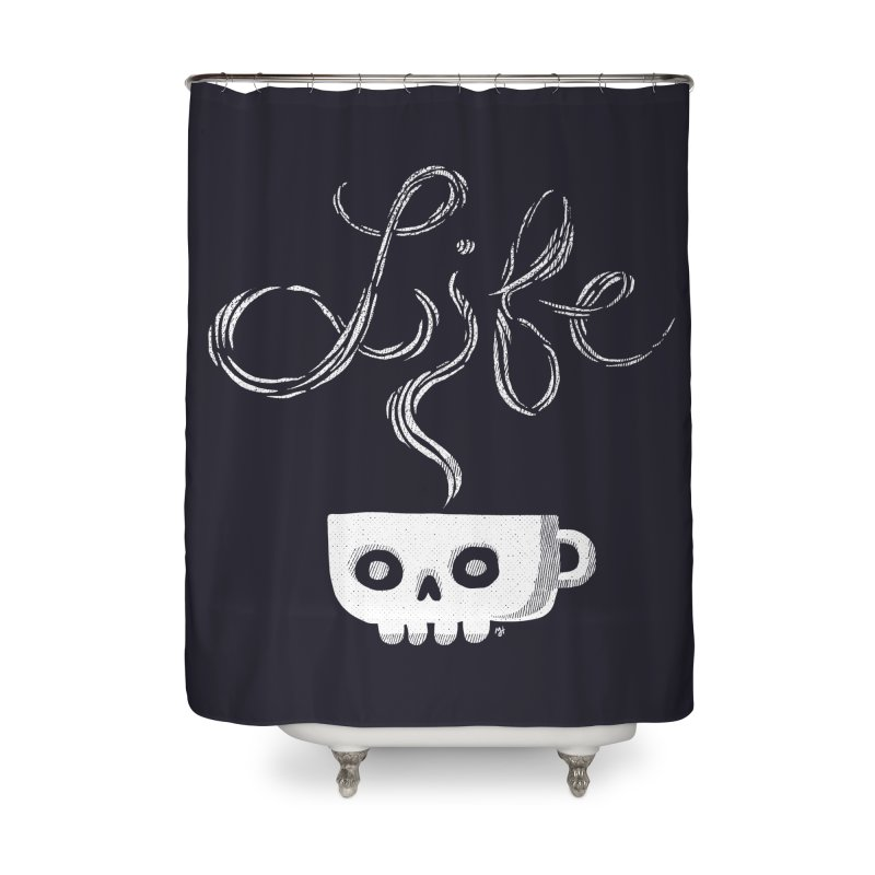 Coffee is Life Home Shower Curtain by michaeljhildebrand's Artist Shop