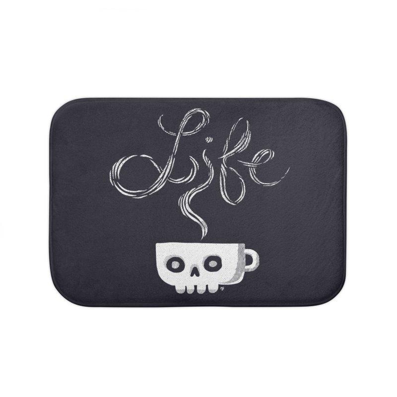 Coffee is Life Home Bath Mat by michaeljhildebrand's Artist Shop
