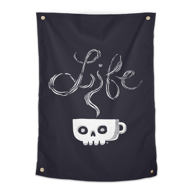 Coffee is Life Home Tapestry by michaeljhildebrand's Artist Shop