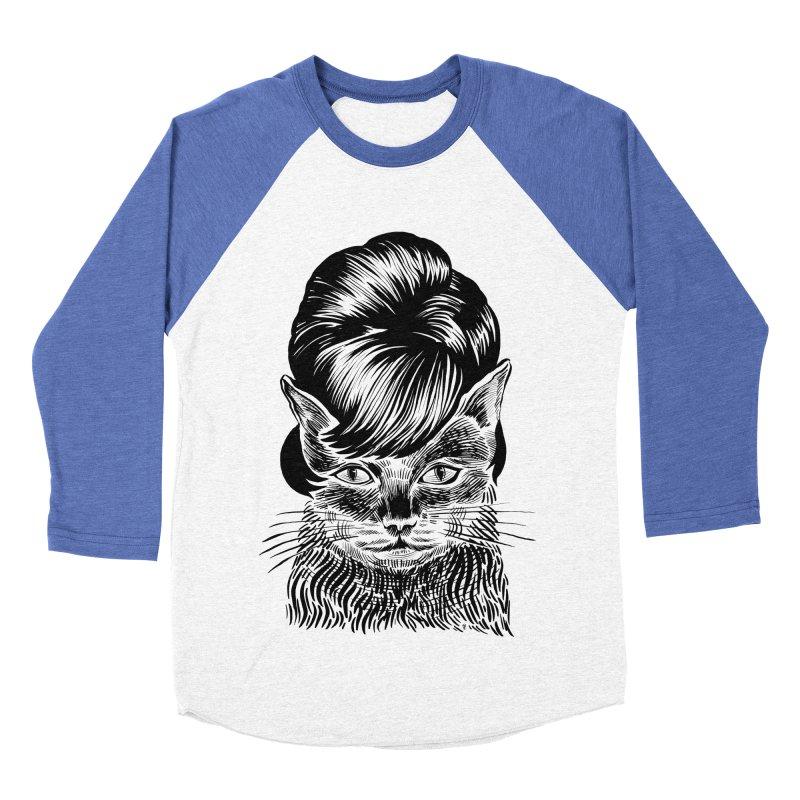 Fierce Pussy Women's Baseball Triblend Longsleeve T-Shirt by Michael J Hildebrand's Artist Shop