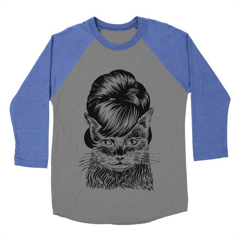 Fierce Pussy Men's Baseball Triblend Longsleeve T-Shirt by Michael J Hildebrand's Artist Shop