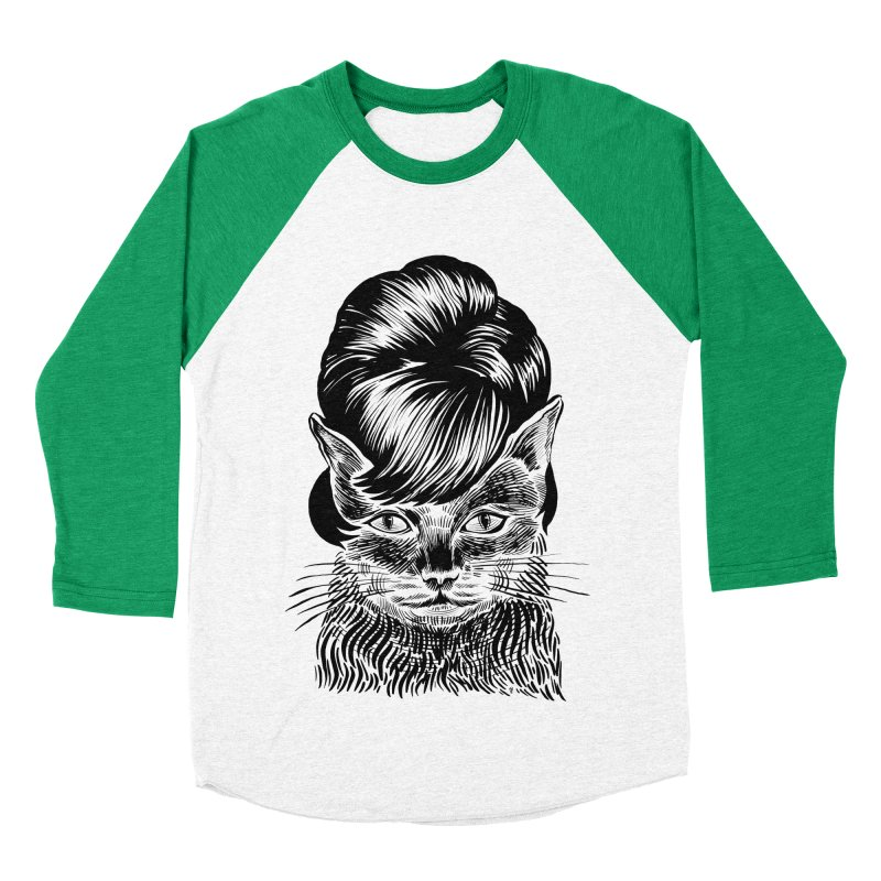 Fierce Pussy Men's Baseball Triblend T-Shirt by michaeljhildebrand's Artist Shop