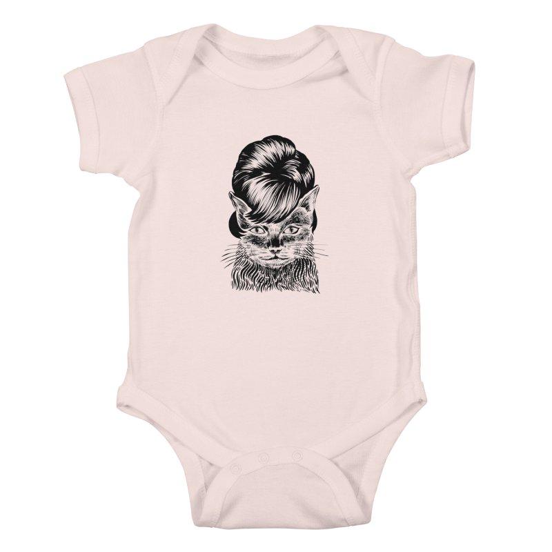 Fierce Pussy Kids Baby Bodysuit by michaeljhildebrand's Artist Shop