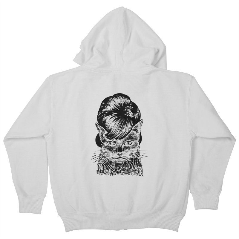 Fierce Pussy Kids Zip-Up Hoody by michaeljhildebrand's Artist Shop