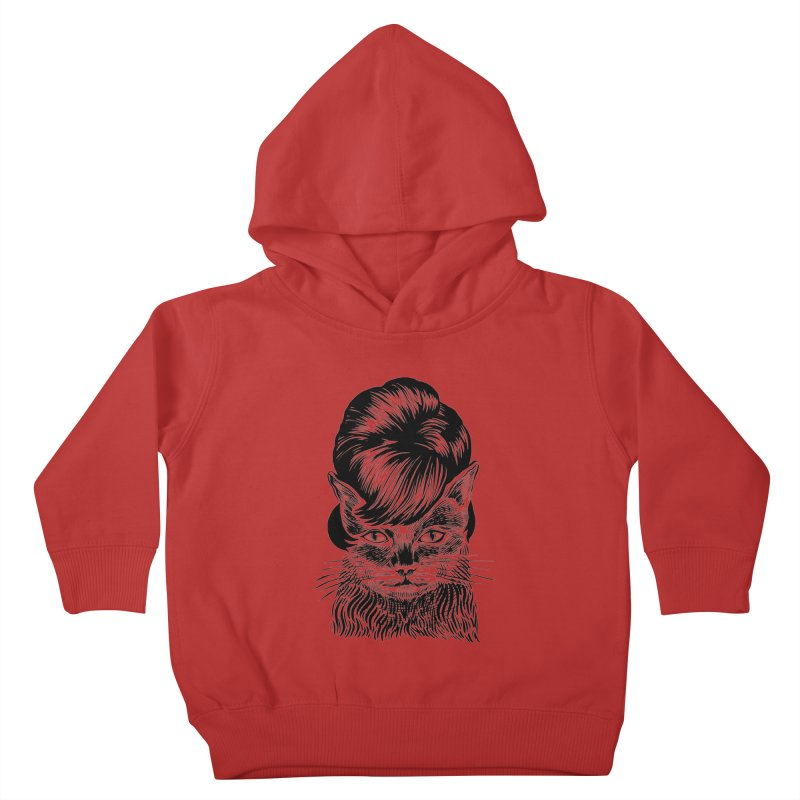 Fierce Pussy Kids Toddler Pullover Hoody by michaeljhildebrand's Artist Shop