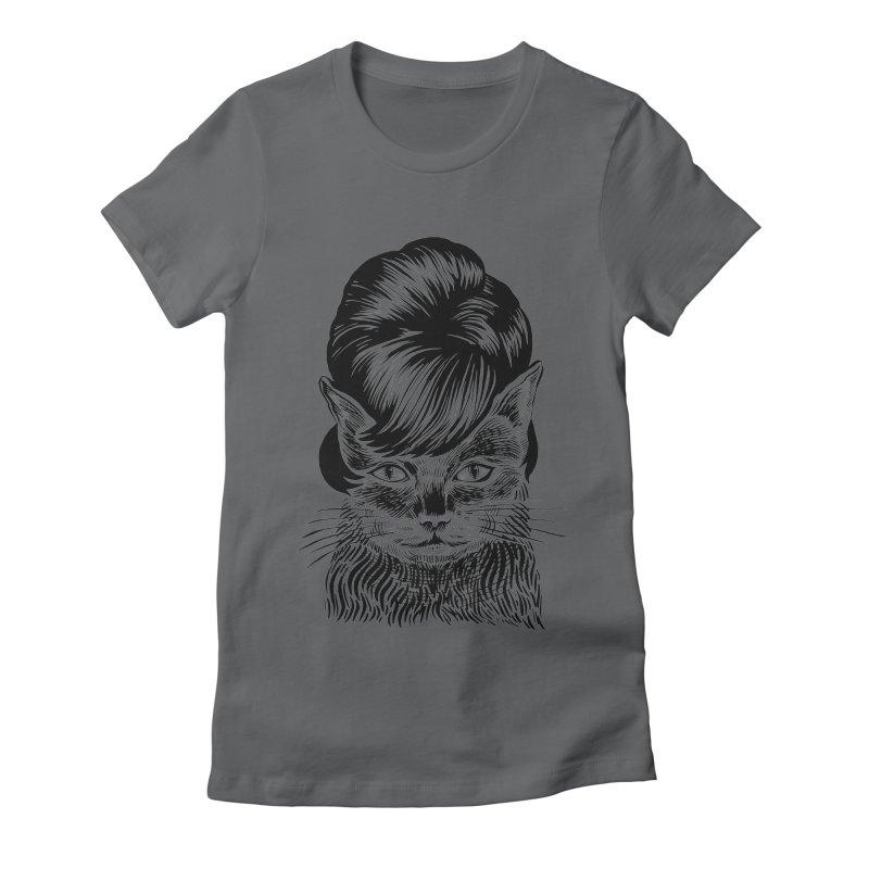 Fierce Pussy Women's Fitted T-Shirt by michaeljhildebrand's Artist Shop