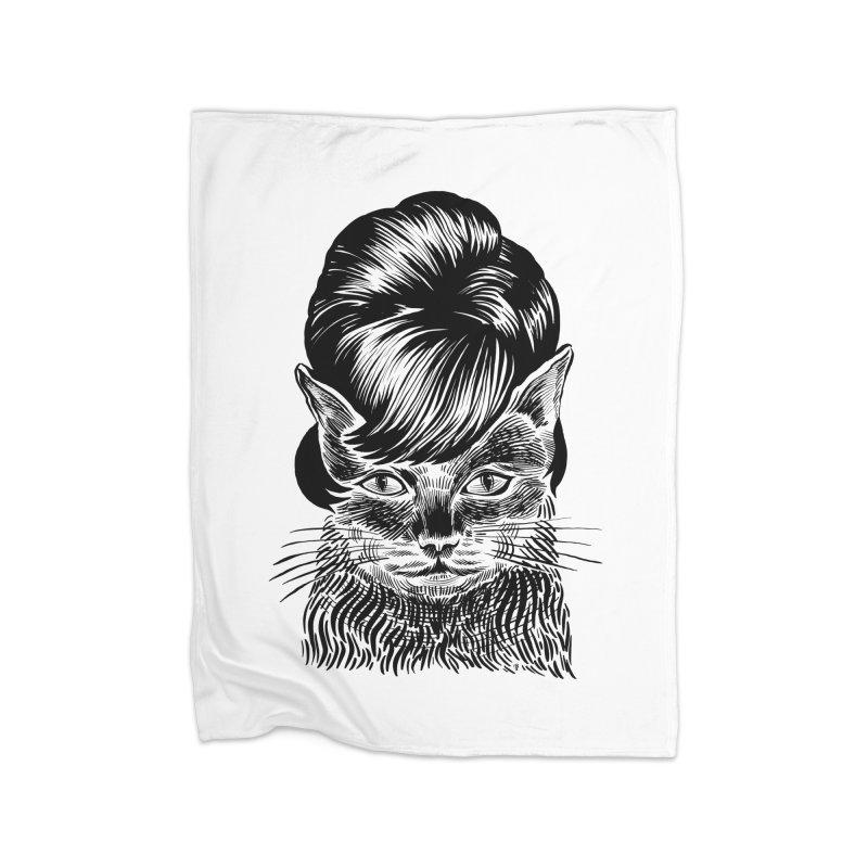 Fierce Pussy Home Blanket by michaeljhildebrand's Artist Shop