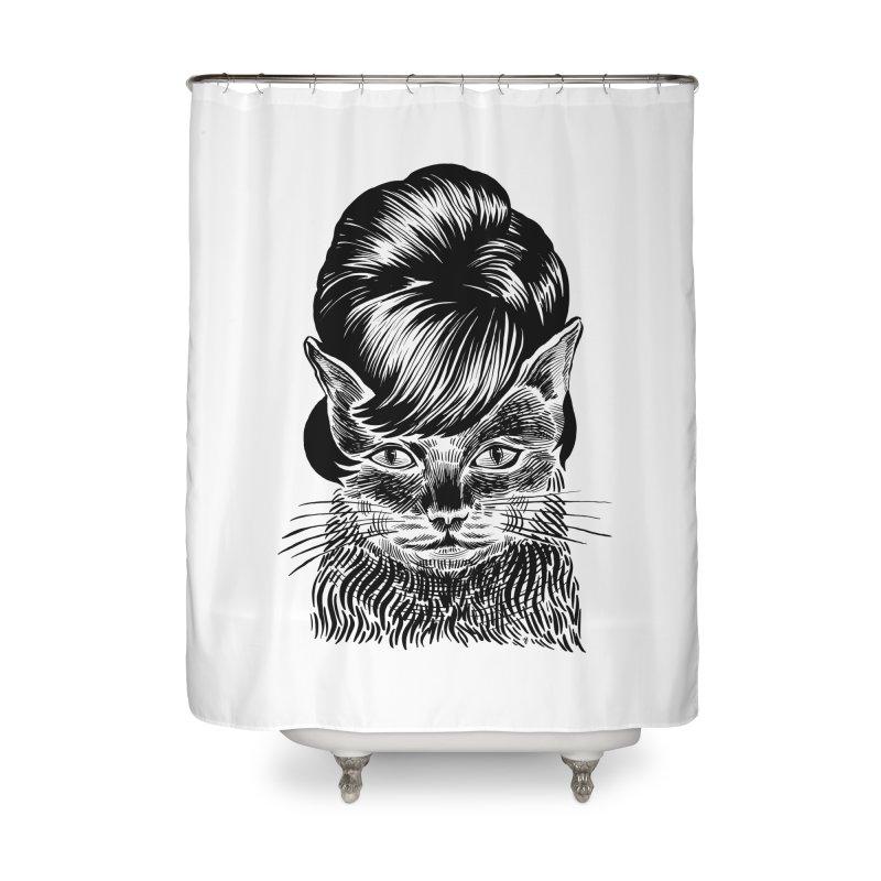 Fierce Pussy Home Shower Curtain by michaeljhildebrand's Artist Shop