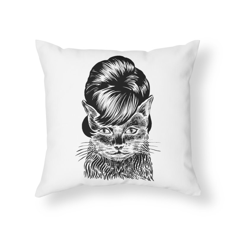 Fierce Pussy Home Throw Pillow by Michael J Hildebrand's Artist Shop
