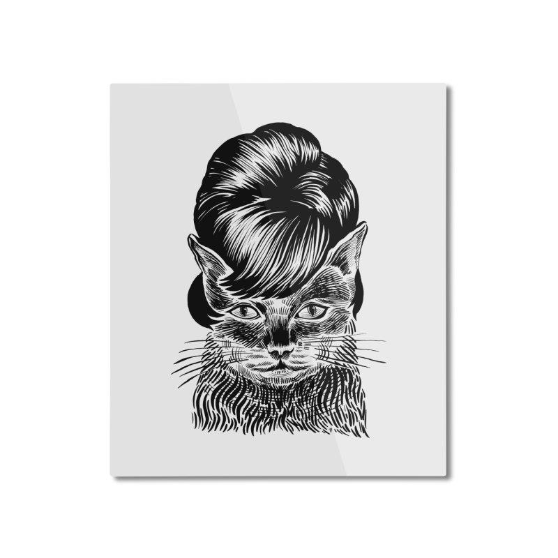 Fierce Pussy Home Mounted Aluminum Print by michaeljhildebrand's Artist Shop