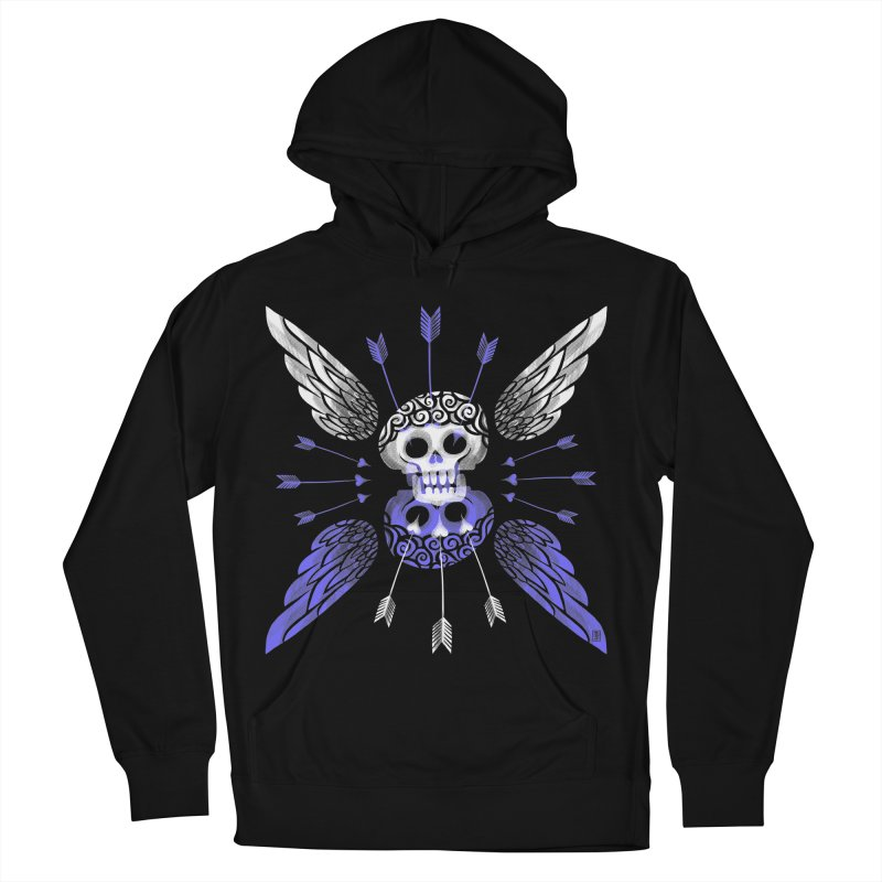 Unvalentine's (Cupid Bones) Women's French Terry Pullover Hoody by michaeljhildebrand's Artist Shop