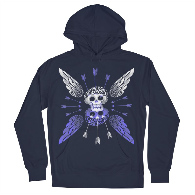 Unvalentine's (Cupid Bones) Women's French Terry Pullover Hoody by Michael J Hildebrand's Artist Shop