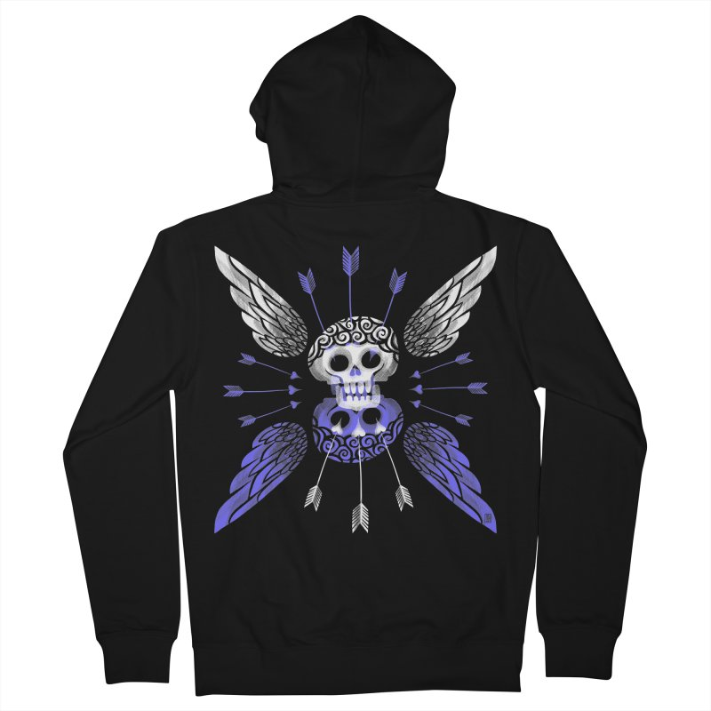 Unvalentine's (Cupid Bones) Women's French Terry Zip-Up Hoody by michaeljhildebrand's Artist Shop