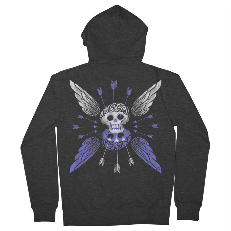 Unvalentine's (Cupid Bones) Men's French Terry Zip-Up Hoody by Michael J Hildebrand's Artist Shop