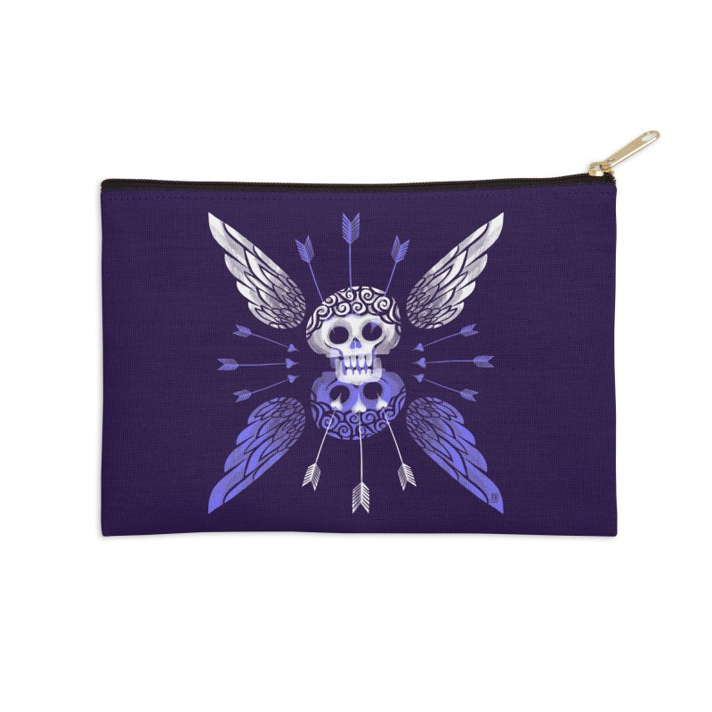 Unvalentine's (Cupid Bones) Accessories Zip Pouch by Michael J Hildebrand's Artist Shop