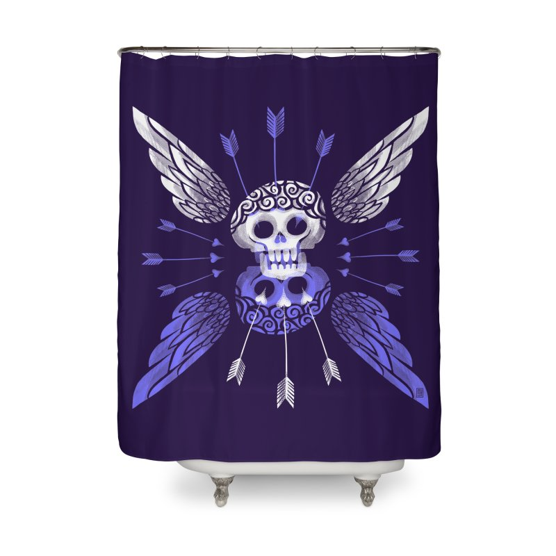 Unvalentine's (Cupid Bones) Home Shower Curtain by michaeljhildebrand's Artist Shop