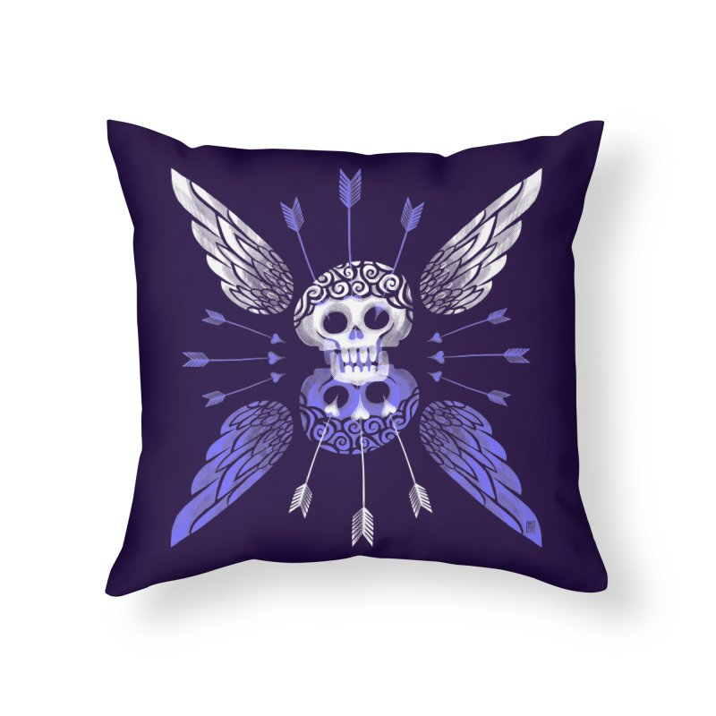 Unvalentine's (Cupid Bones) Home Throw Pillow by michaeljhildebrand's Artist Shop