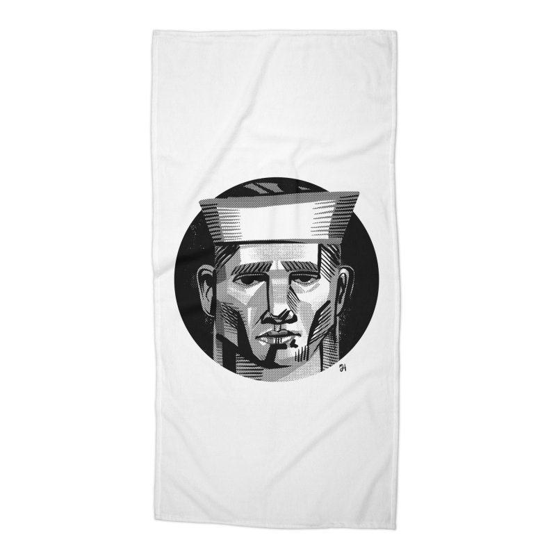 Sailor in the Wild (night version) Accessories Beach Towel by Michael J Hildebrand's Artist Shop