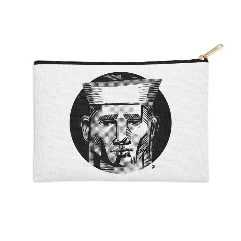 Sailor in the Wild (night version) Accessories Zip Pouch by Michael J Hildebrand's Artist Shop