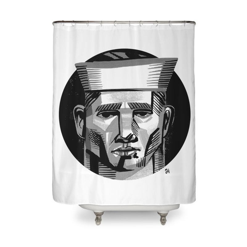 Sailor in the Wild (night version) Home Shower Curtain by michaeljhildebrand's Artist Shop