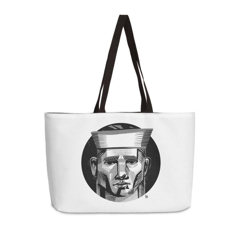 Sailor in the Wild (night version) Accessories Weekender Bag Bag by Michael J Hildebrand's Artist Shop