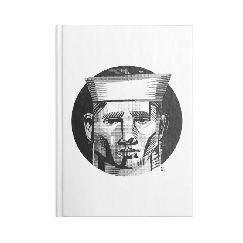 Sailor in the Wild (night version) Accessories Notebook by michaeljhildebrand's Artist Shop